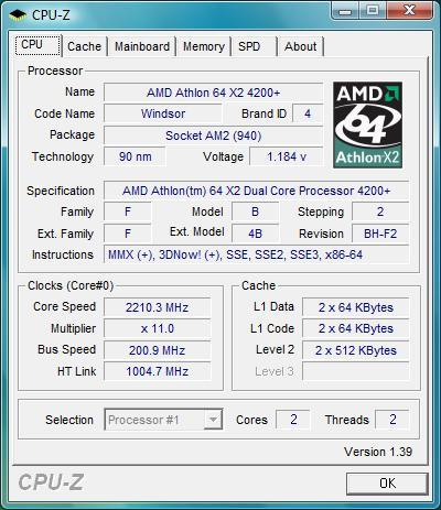 AMD Athlon 64 x2 4200+ 2.2Ghz AM2 AM2+ Socket 939 AMD Processor