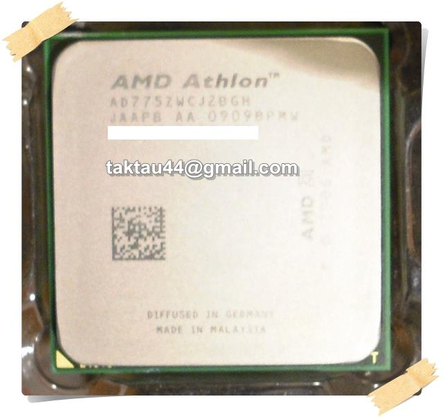 AMD Athlon 64 X2 7750+ Dual Core 2.7Ghz AM2+ / 940 CPU / Processor