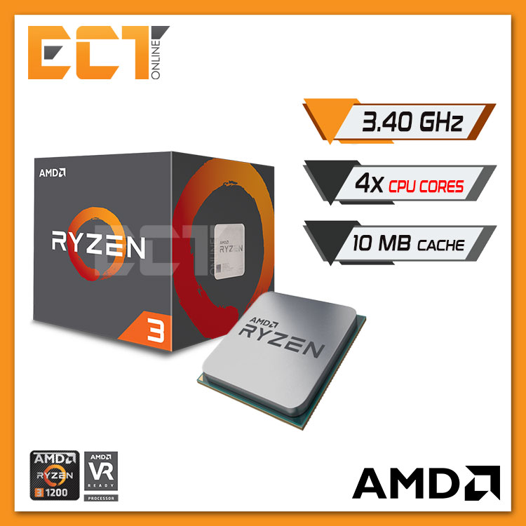 AMD Ryzen 3 1200 Processor with Wraith Stealth Cooler (3.40GHz,4Cores)