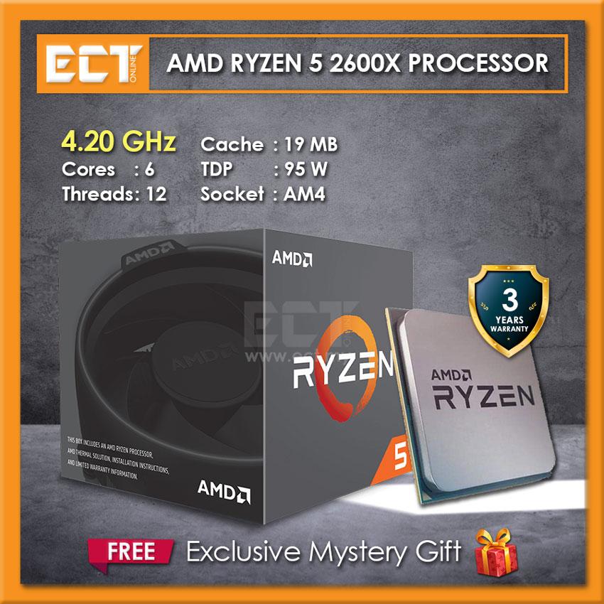 AMD Ryzen 5 2600X Desktop Processor with Wraith Spire Cooler