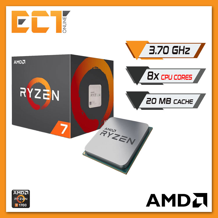 AMD Ryzen 7 1700 Desktop Processor with Wraith Spire 95W Cooler