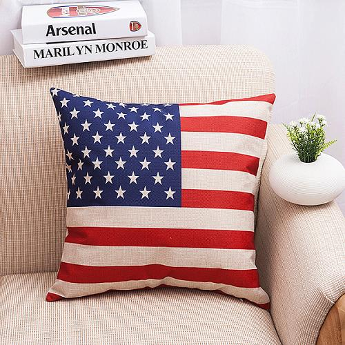 The American Flag Square Decorative End 404040 4040 PM Delectable American Flag Decorative Throw Pillow