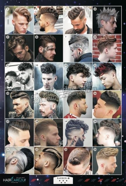 American Western Style Men Hair Barber Poster