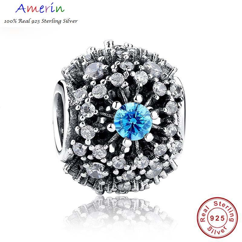 AMERIN 100% Real 925 Sterling Silver Cinderella's Wish Blue Accessorie