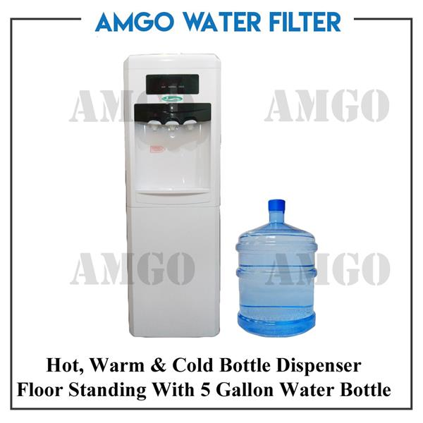 AMGO 11F Hot,Warm And Cold Water Dispenser Bottle Type[5 Gallon Tank]