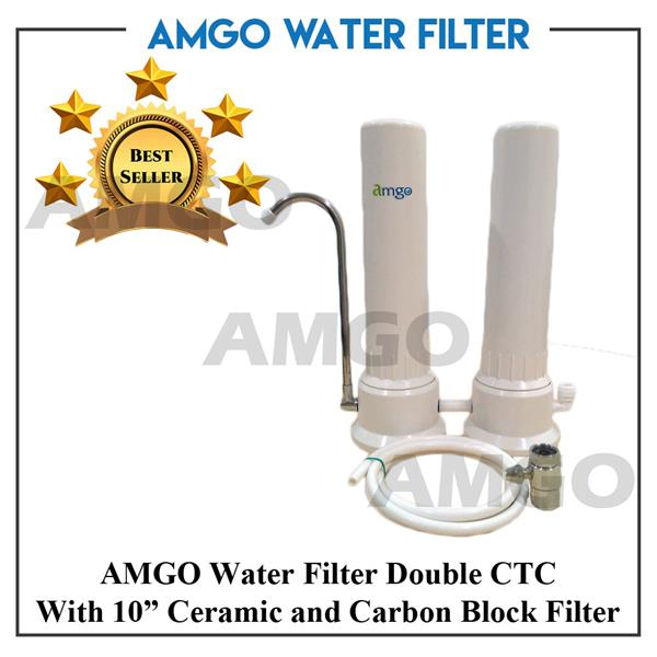 AMGO 2 Stage Double CTC Ceramic Housing Double Stage Water Filter
