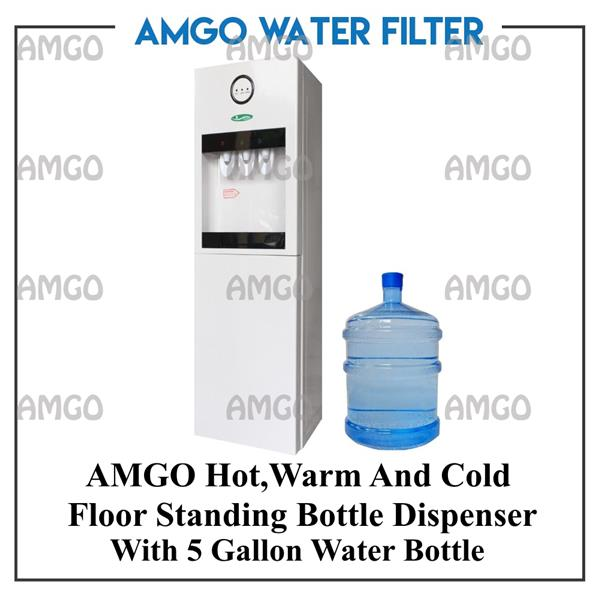 AMGO 21F Hot,Warm And Cold Water Dispenser Bottle Type[5 Gallon Bottle