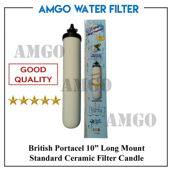"AMGO Authentic British Portacel Ceramic Water Filter Purifier 10"" Long"