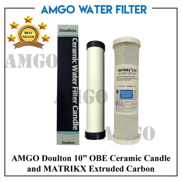 AMGO Doulton OBE Ceramic Water Filter + MATRIKX Extruded Carbon