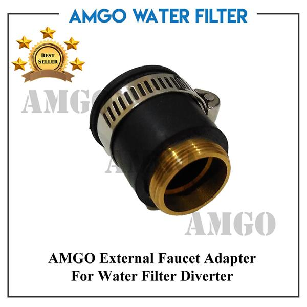 AMGO External Faucet Adapter For Connect Water Filter Diverter