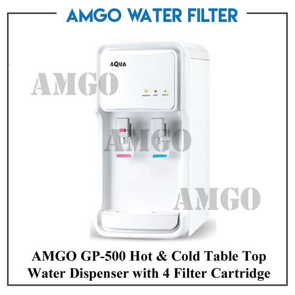 AMGO GP-500 Hot And Cold Table Top Water Dispenser With 4 Water Filter