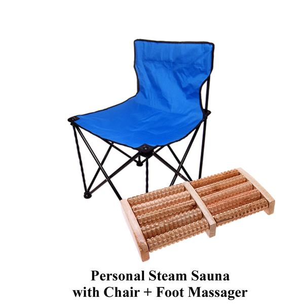 AMGO Portable Steam Sauna+Chair+Foot Massager 9007 [FREE HERBAL BATH]