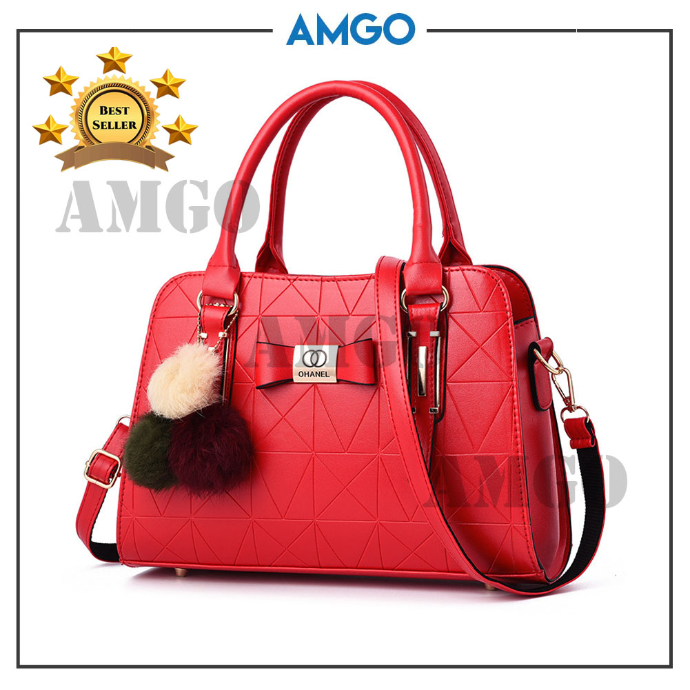 AMGO [RED] Premium Quality Women Handbag Fashion Handbeg Wanita