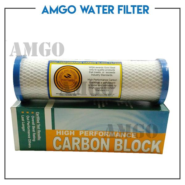 "AMGO Super CTO 10"" High Performance 8X Performance Carbon Block Filter"