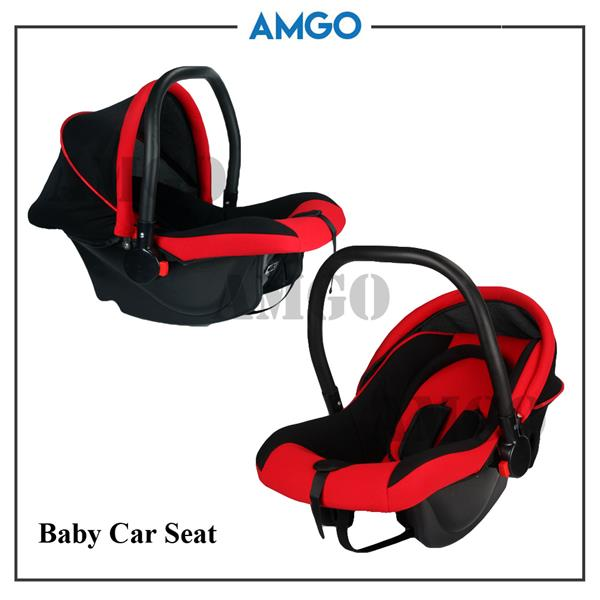 AMGO Travel Baby Stroller Easy Fold Lightweight With Car Seat RED