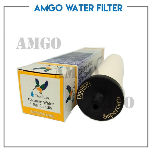 AMGO Water Filter Doulton SUPERCARB Ceramic Water Filter Housing