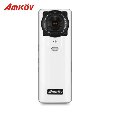 Amkov VR - P360 4K Dual Lenses 360 Degree VR Camera (BLACK)