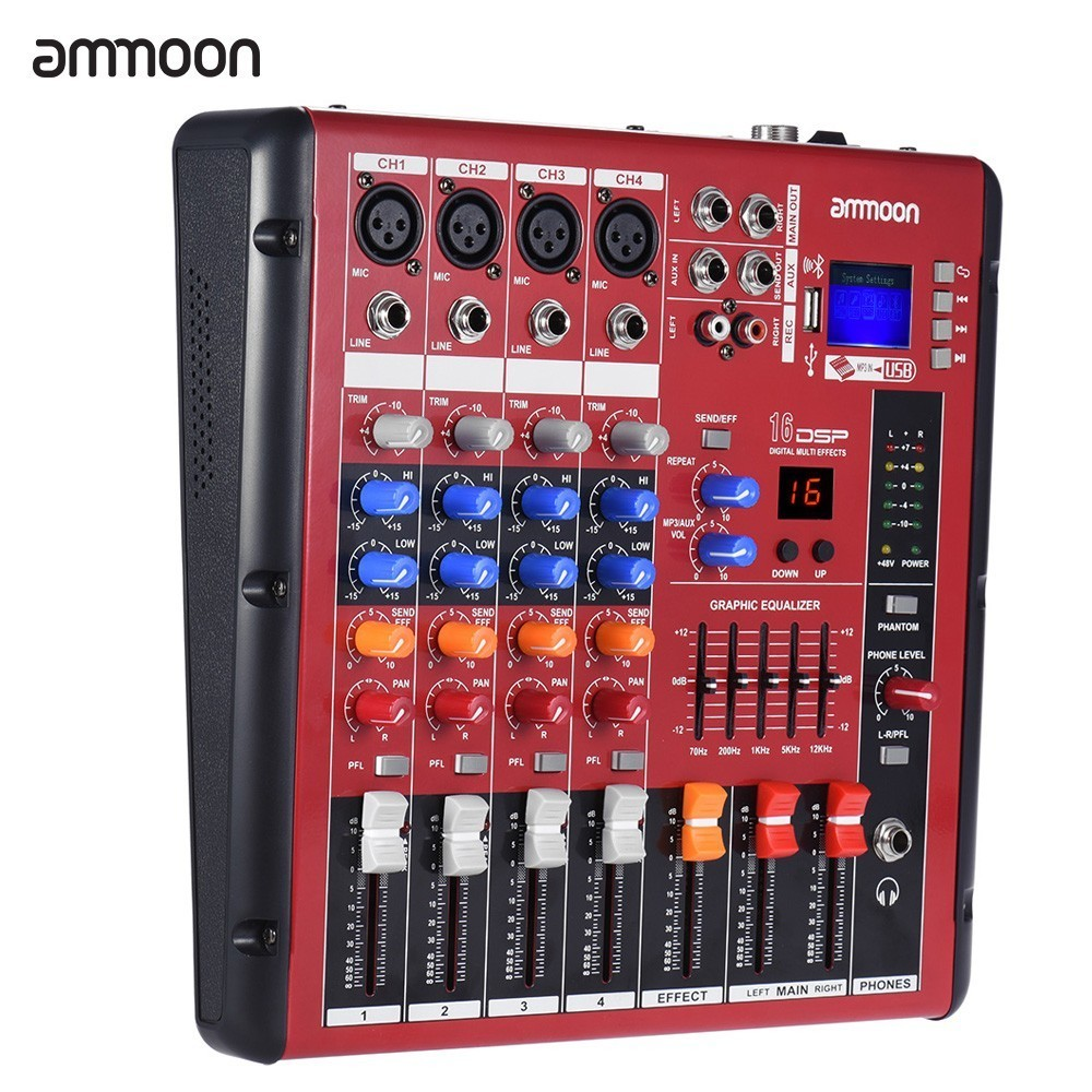 Audio Mixer Price Harga In Malaysia Lelong Kabel Mic Mono Kecil 20 Meter Ammoon Digital Bluetooth 4 Channel Line Mixing Console