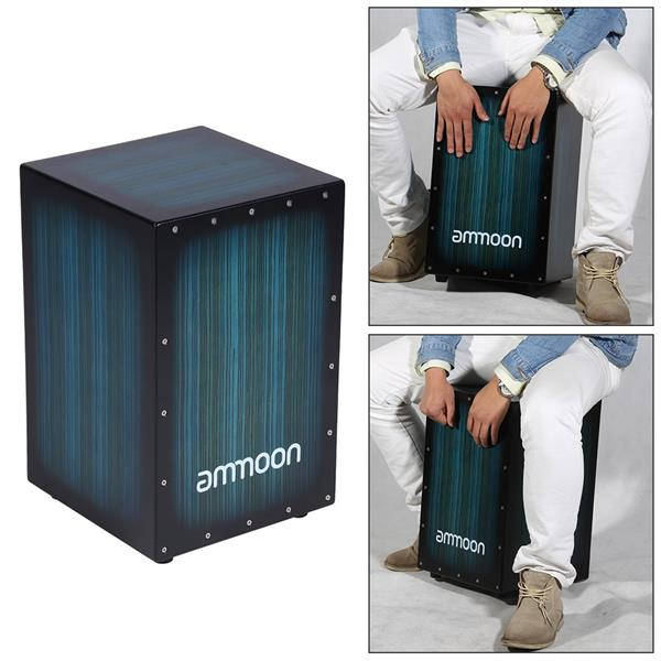 ammoon wooden box drum cajon hand dru end 7 1 2020 1 15 pm. Black Bedroom Furniture Sets. Home Design Ideas