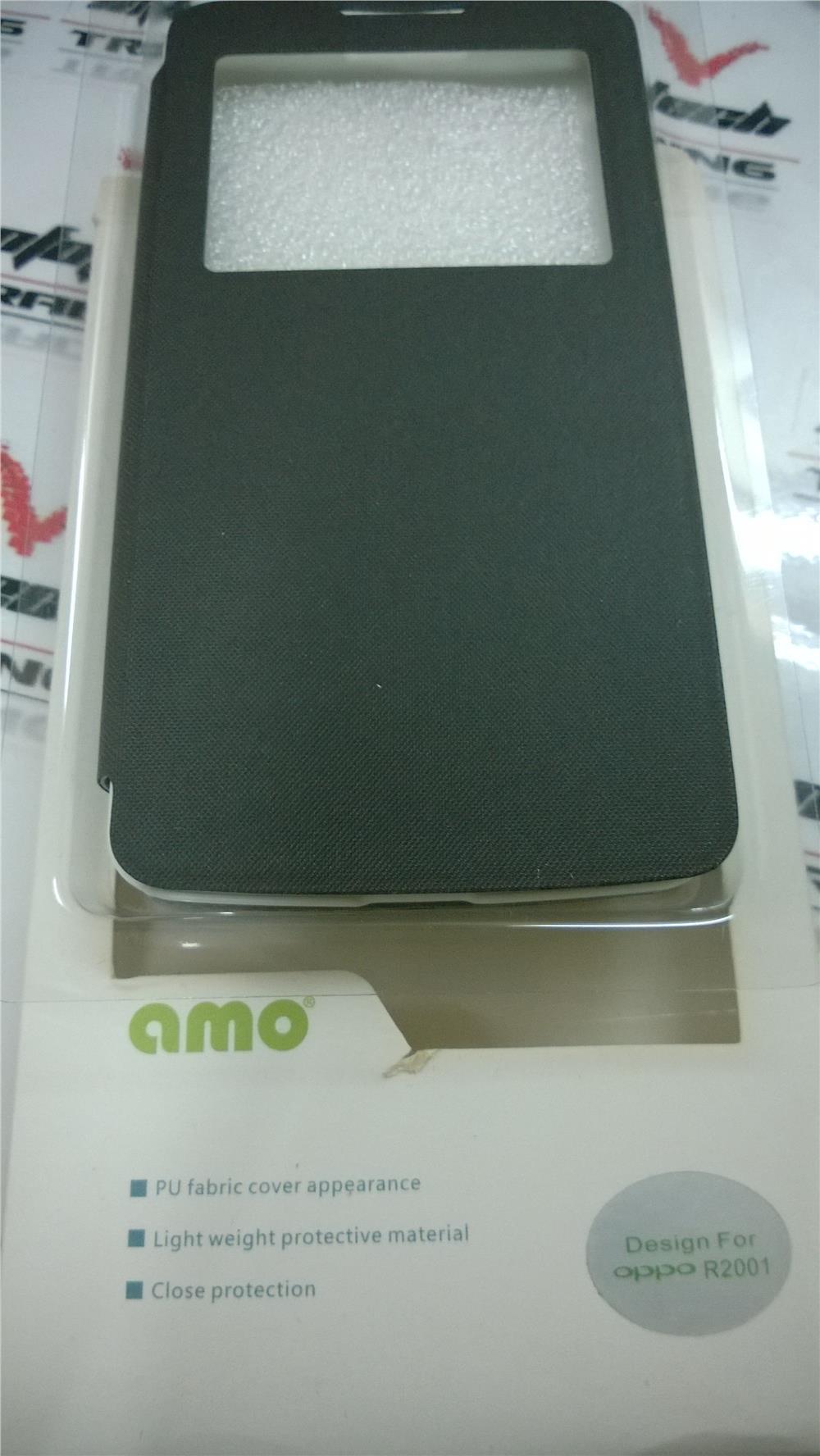 new arrival 34dcd 0fdd0 AMO OPPO R2001 YOYO BLACK FLIP COVER BOOK CASE
