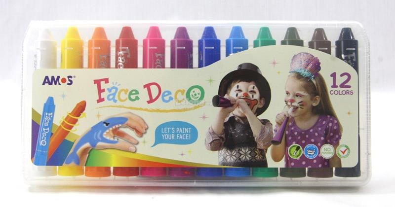 AMOS Face Deco / Face Paint 3,6,8 & 12 Colors