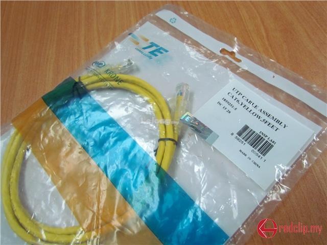 AMP Original Cat6 UTP Patch Cord Cable 3ft Yellow