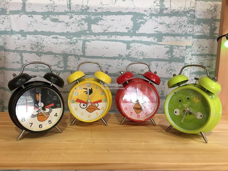 Analog Twin Bell Alarm Clock Loud Ring Sound Angry Bird Set