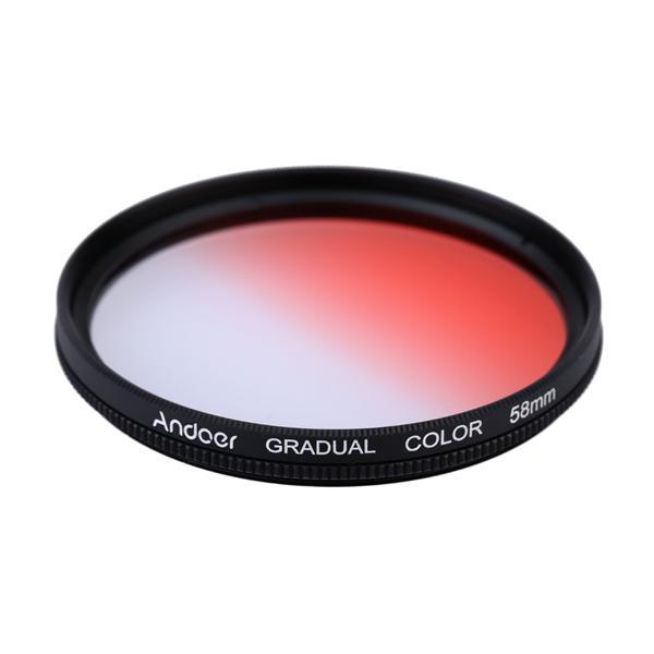 Andoer GND Graduated Red 58mm Filter Neutral Density