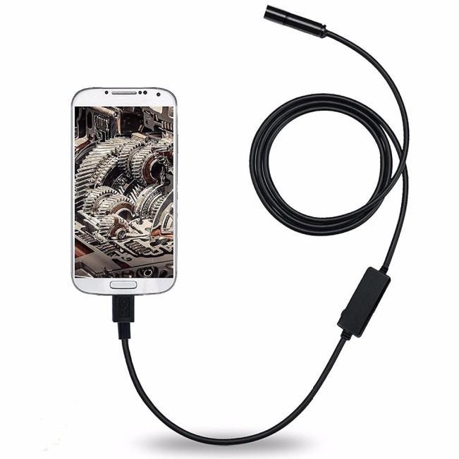 Android Mobile Endoscope USB 7MM Lens 1.5M Snake Camera Waterproof