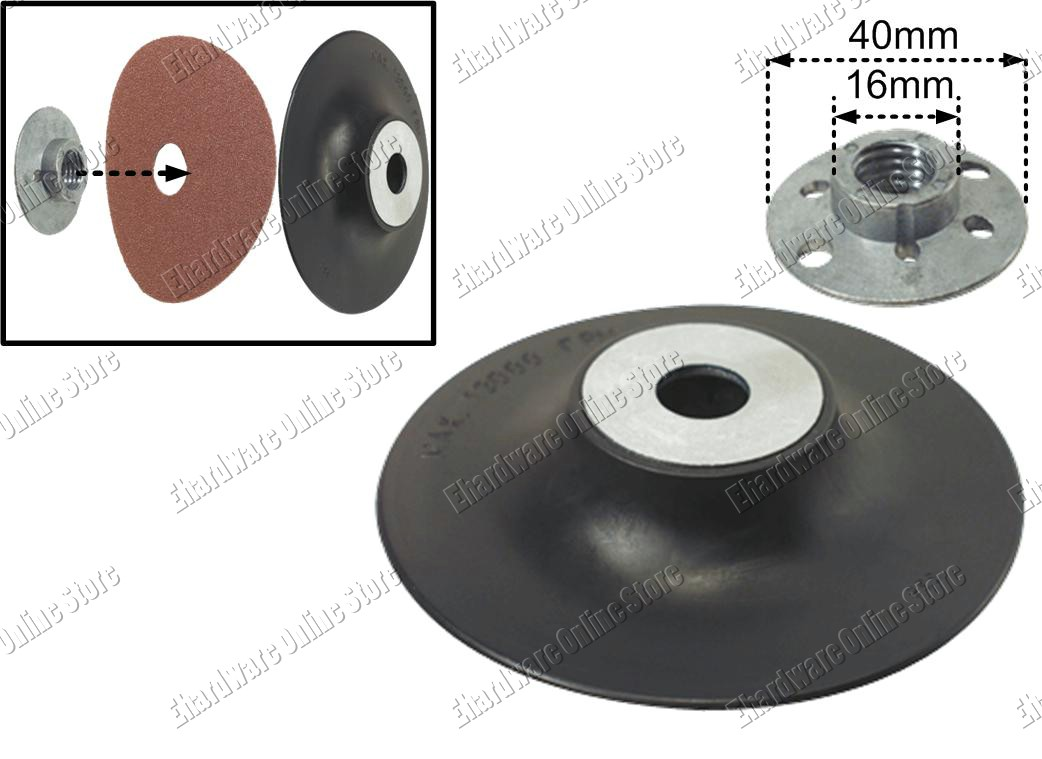 Angle Grinder Sanding Backing Pad with Clamp Nut 100mm (33RP010)