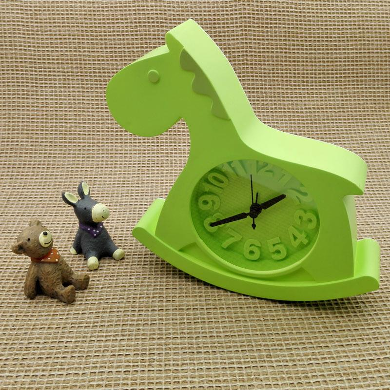 Animal horse alarm table and desk clock home decoration