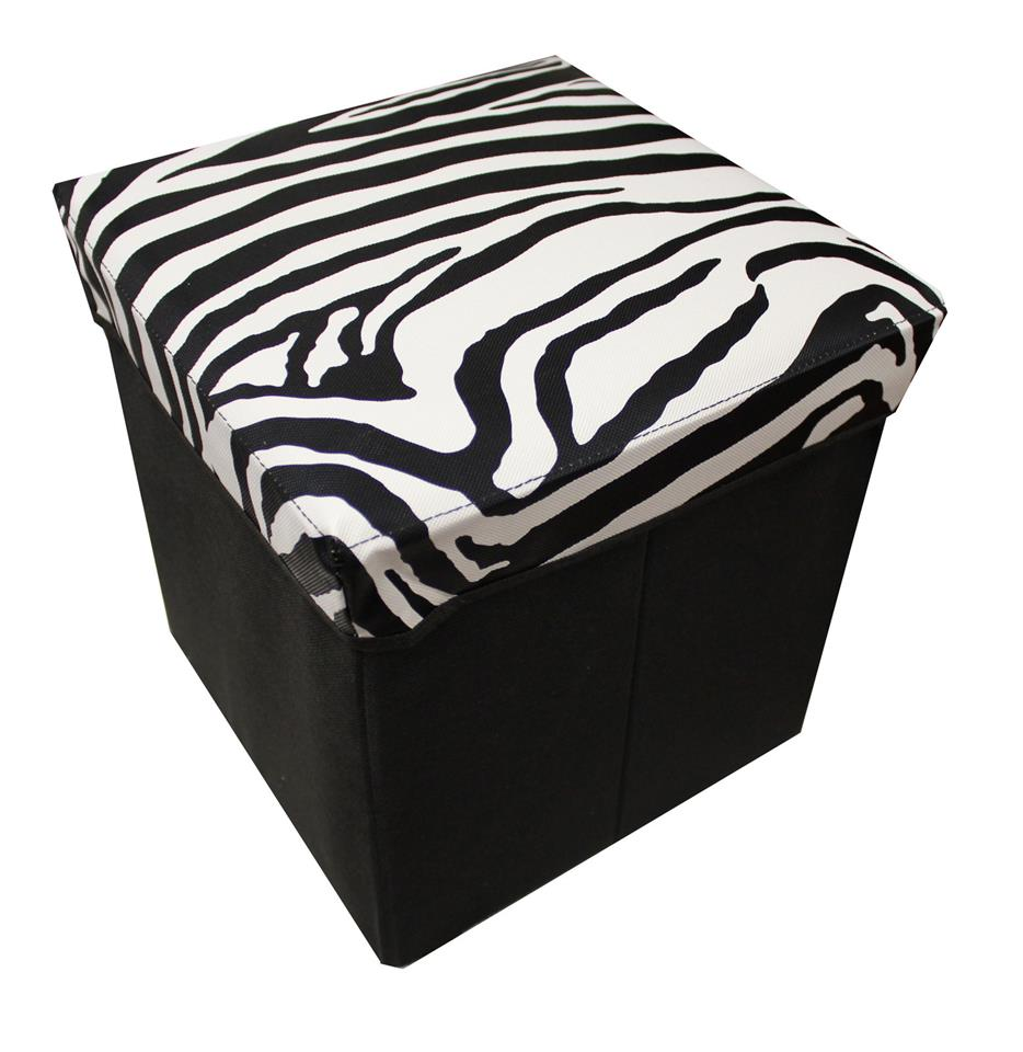 Animal Prints Hardy Foldable Storage Box Stool. U2039 U203a