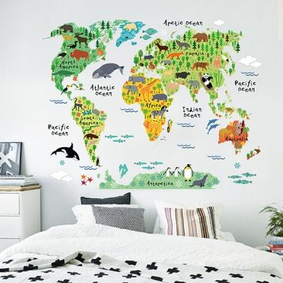 Animal world map wall sticker diy re end 1162018 115 pm animal world map wall sticker diy removable quote art decal vinyl mode gumiabroncs