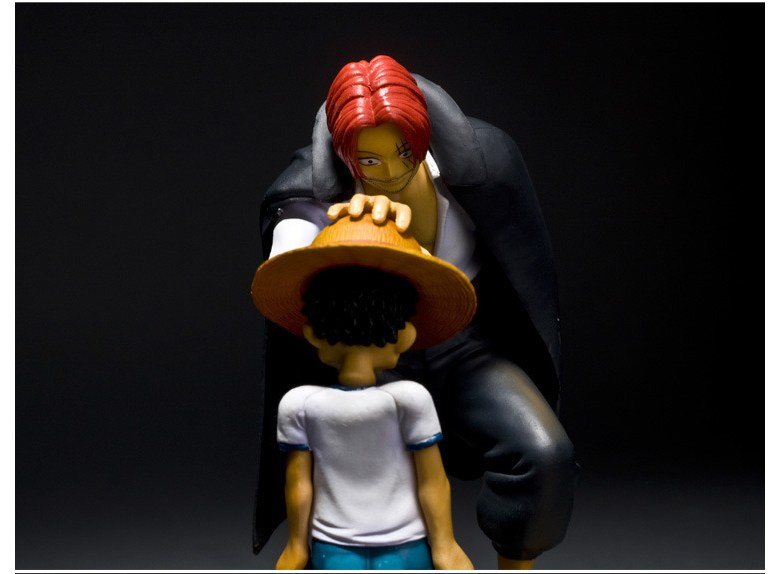 Anime One Piece Memories Scene Luffy Red Shanks shankusu Figure with b