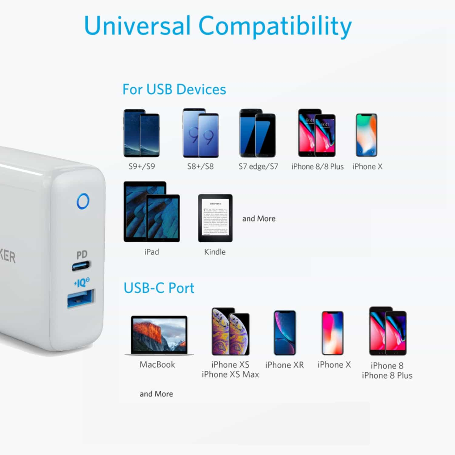 uk availability 9572c 10ef9 Anker A2321 PowerPort II PowerIQ 2.0 With Power Delivery Wall Charger