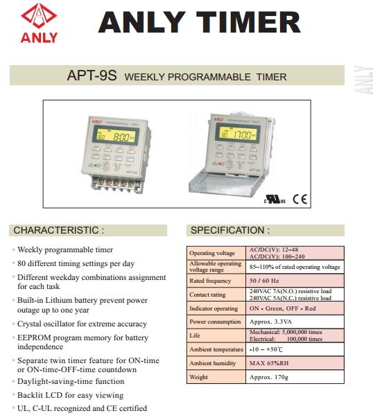 anly apt 9s weekly programmable timer time switch cpeelectrical 1601 04 cpeelectrical@5 anly apt 9s weekly programmable time (end 1 3 2019 10 15 pm) anly timer wiring diagram at alyssarenee.co