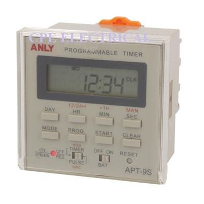 anly apt 9s weekly programmable timer time switch cpeelectrical 1607 30 cpeelectrical@6 anly apt 9s weekly programmable time (end 1 3 2019 10 15 pm) anly timer wiring diagram at alyssarenee.co