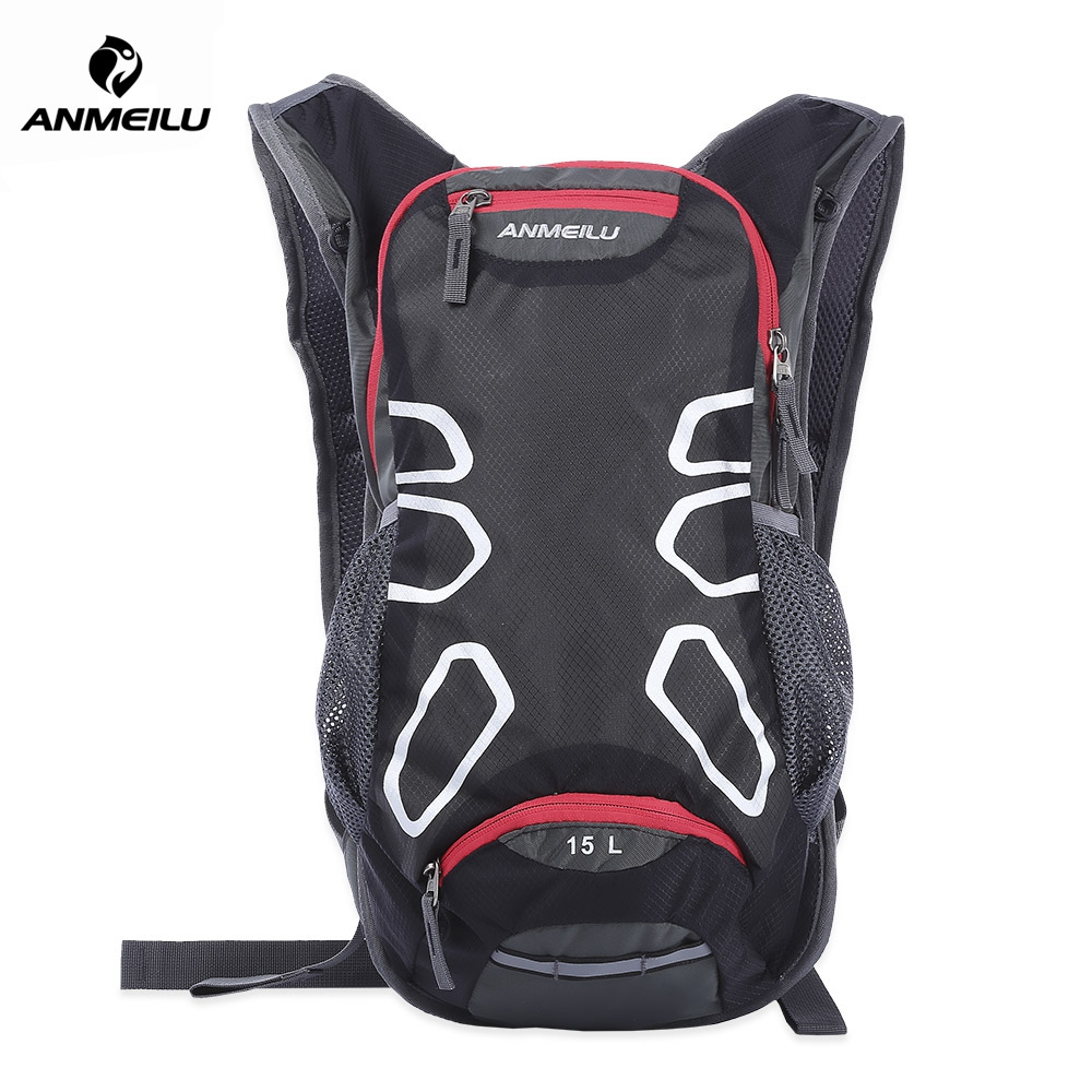faf92ec84 ANMEILU 15L CYCLING BICYCLE PACK BACKPACK WITH RAIN HELMET (BLACK)