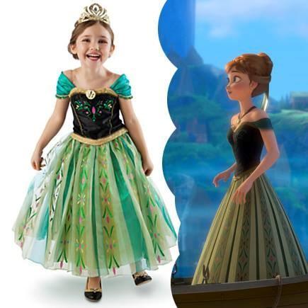 Anna Coronation Frozen S Dress Kids Costume Free Tiara