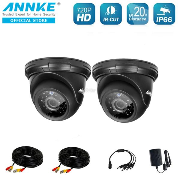ANNKE 1MP  3.6mm 720P 2 Dome IR-CUT IP66 Wide Application Cameras