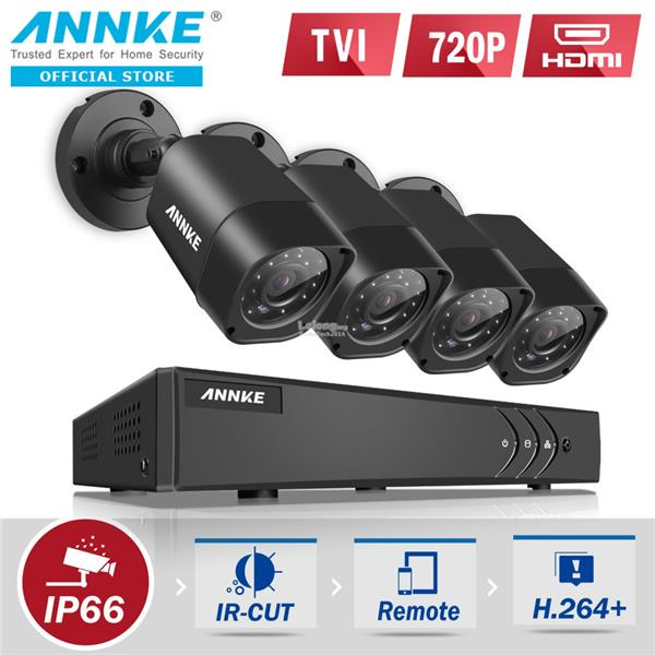 ANNKE 1MP 720P 4 Bullet Cameras CCTV NO Hard Disk DVR
