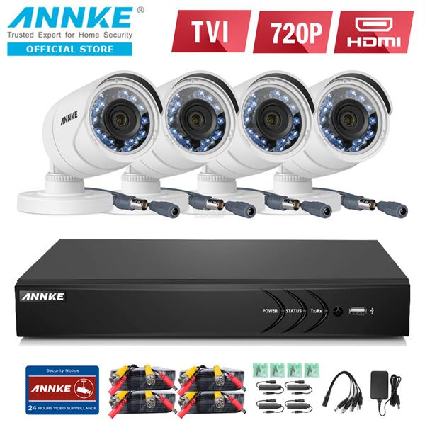 ANNKE 2MP 1080P 4 Bullet Cameras NO HDD Included CCTV DVR