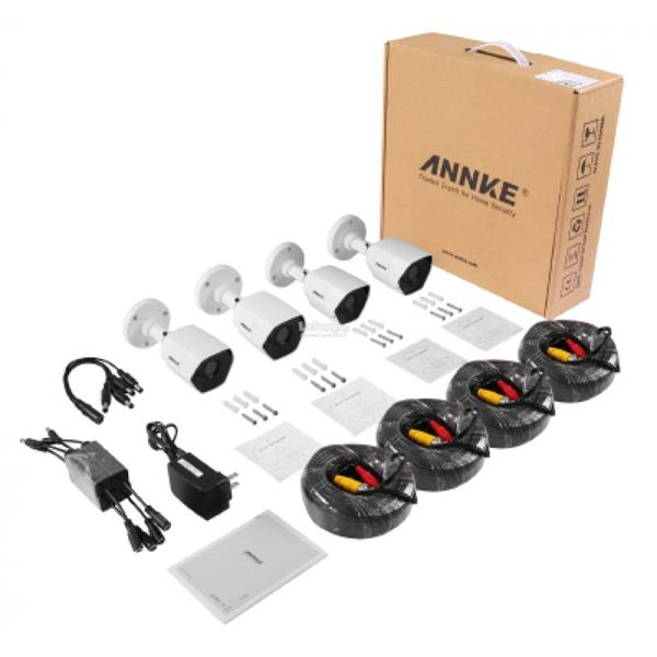 ANNKE 3MP 1536P 4 Bullet Cameras Included 1TB TOSHIBA HDD CCTV DVR