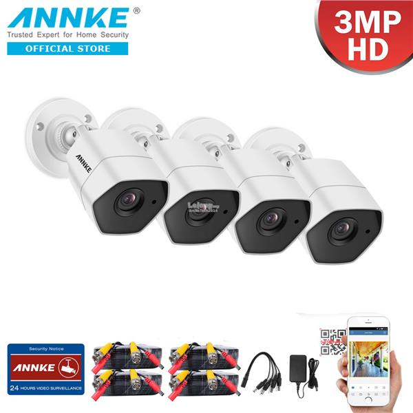 ANNKE 3MP 1536P 4 Bullet CMOS Sensor IP66 Dust and Waterproof Camera