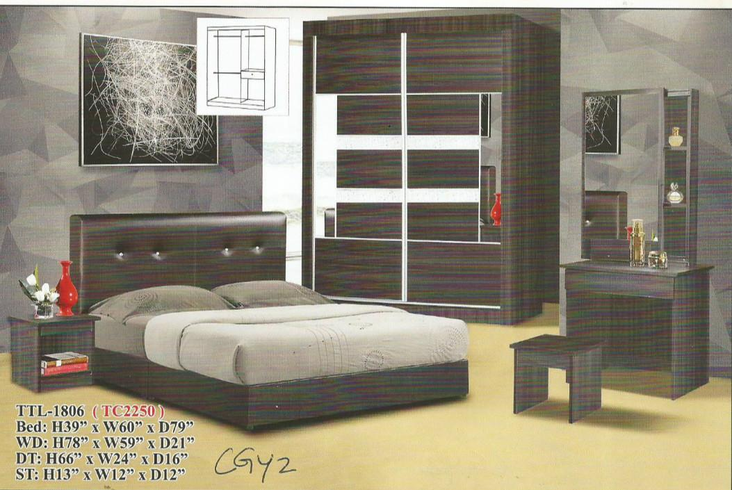 Ansuran murah bedroom set model - 1806
