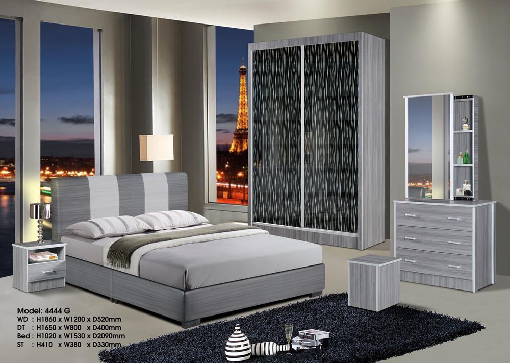 Ansuran Murah Set Bilik Tidur 5 Dalam 1 4x6 Wardrobe