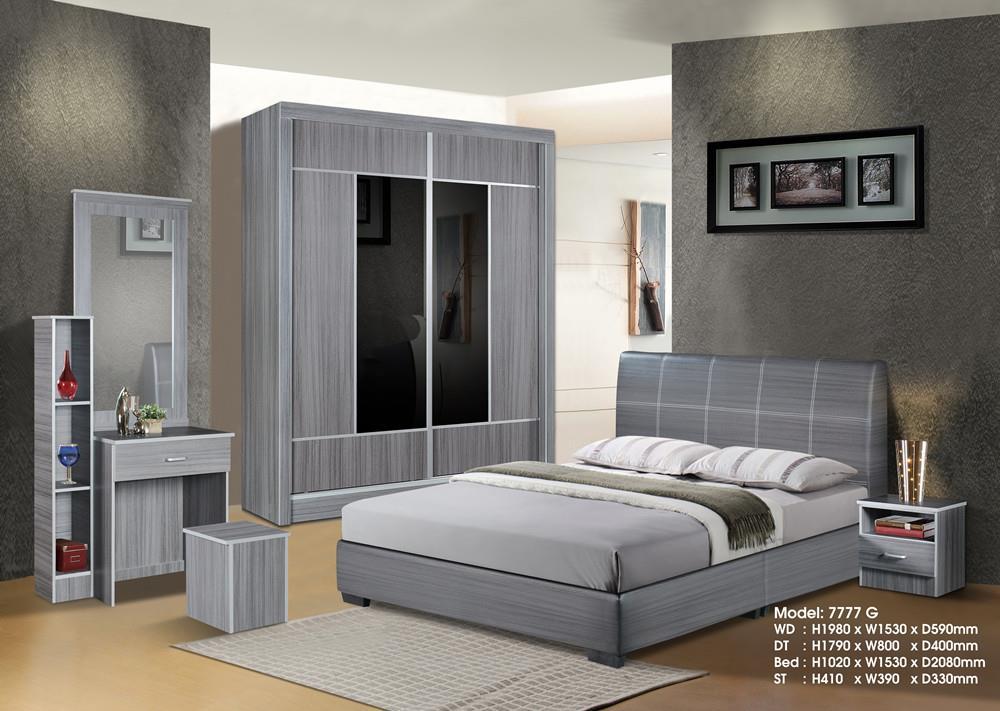 Ansuran Murah Set Bilik Tidur 5 Dalam 1 5x6 Wardrobe