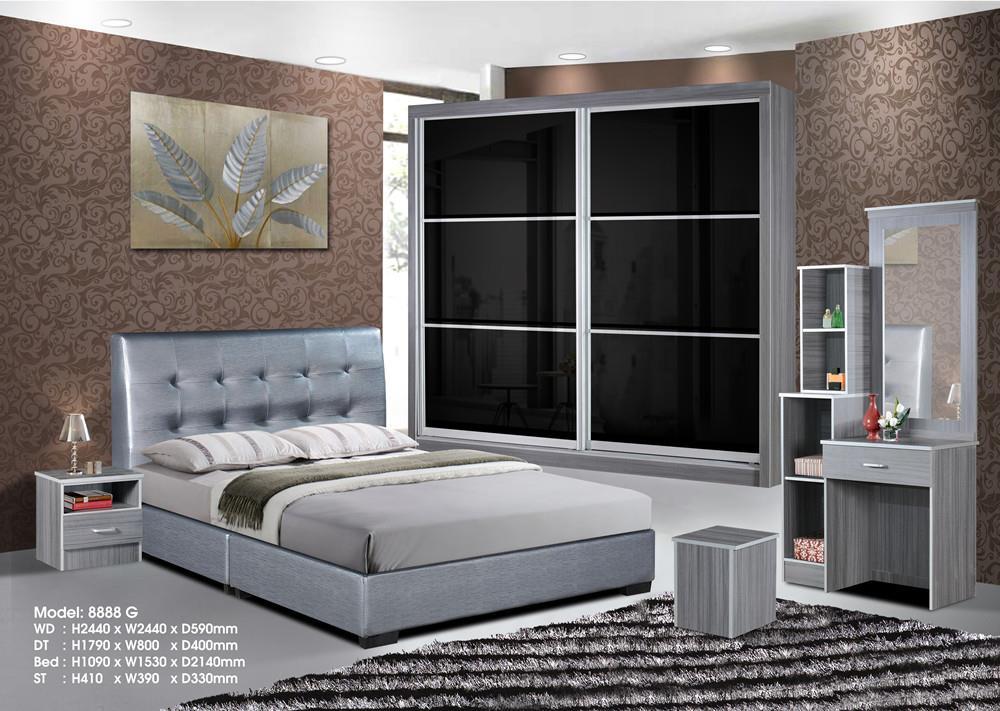 Ansuran Murah Set Bilik Tidur 5 Dalam 1 8x8 Wardrobe
