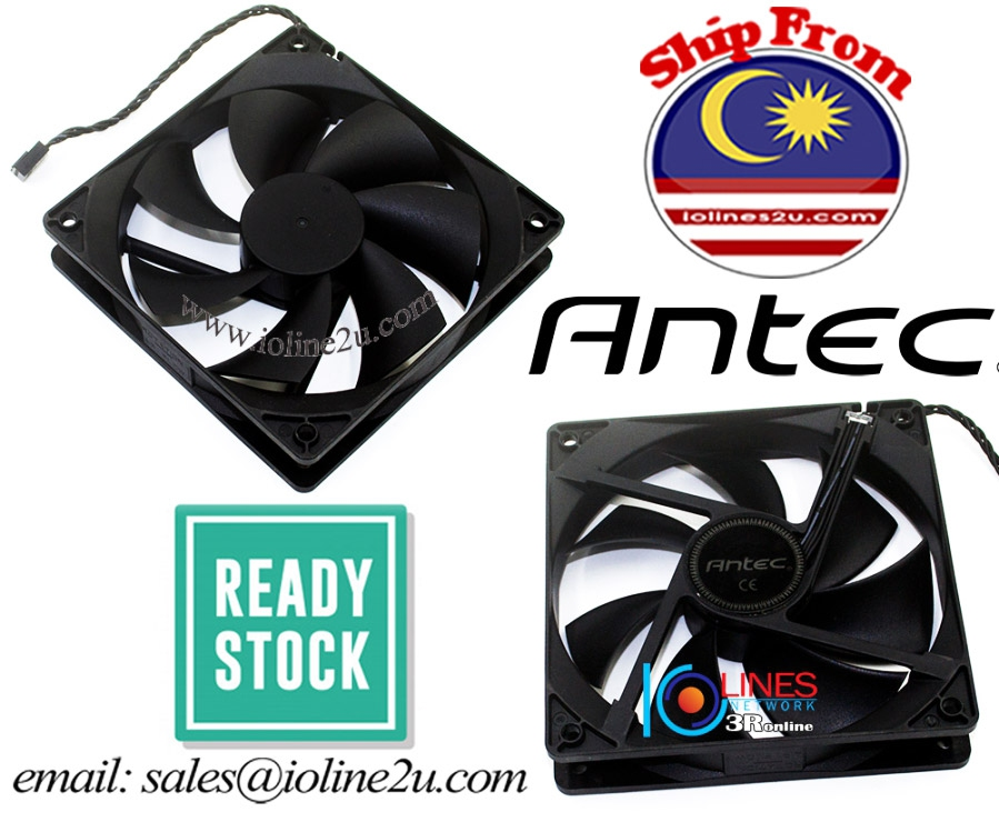 Antec 12cm 12V 0.41A Cooling Fan 120mm*25mm 4Pin 2200rpm EF121225SM for CPU Ca