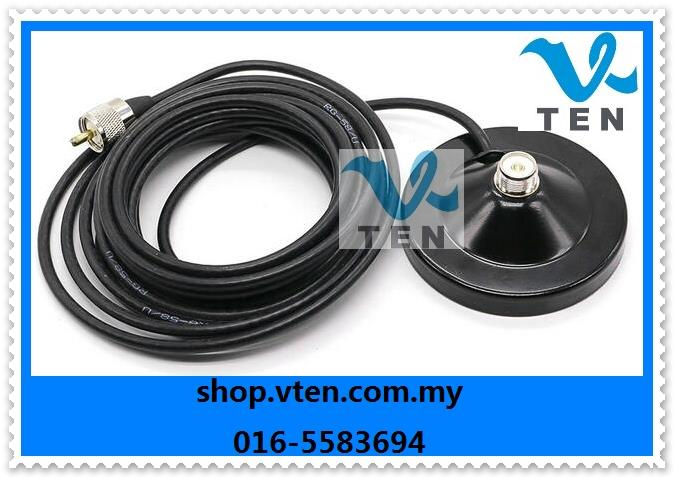 Antenna Based Mobile Radio Antenna 12cm Magnet Mount 5meter Cable